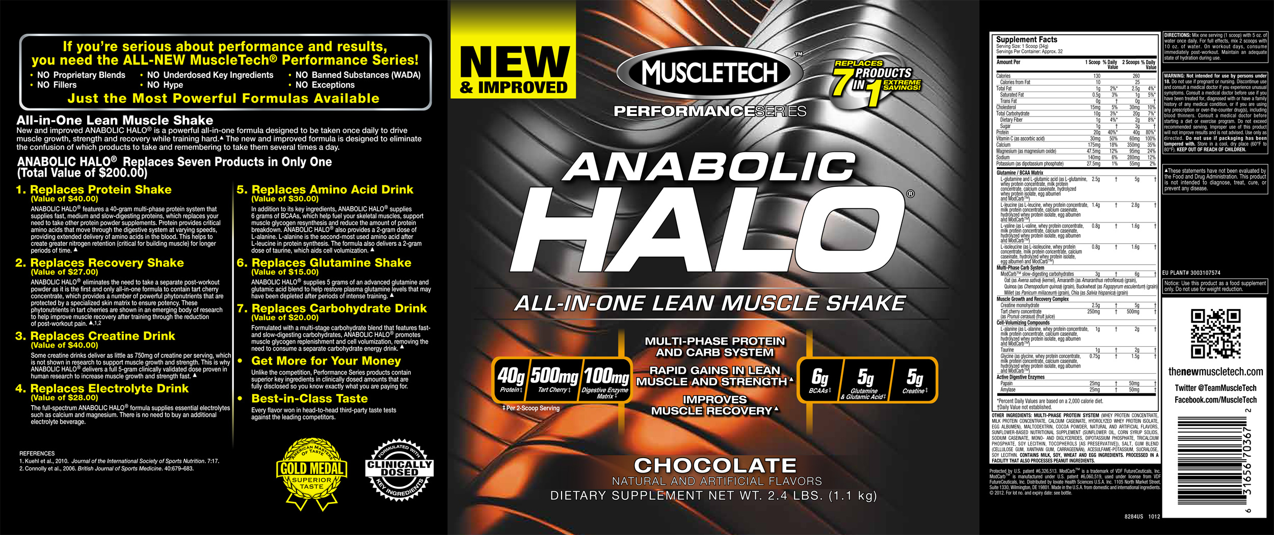 muscletech anabolic halo nutrition facts