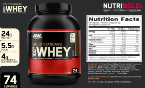 Gold Standard 100% Whey de Optimum Nutrition
